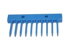 10 porų įrankio šukos mėlynos