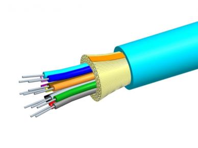 12-os skaidulų OM4 vidinis/išorinis kabelis, Cca