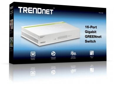 16-port 10/100/1000Mbps komutatorius 4