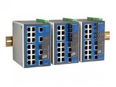 16x100TX 2x1000TX komutatorius EDS-518A, Moxa