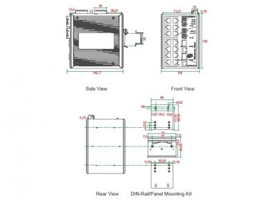 16x100TX 2x1000TX komutatorius EDS-518A, Moxa 2