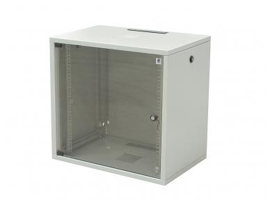 18U spinta su stiklo durimis 871x600x400 (AxPxG)mm