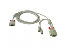 LINDY 1m Combined KVM cable for LINDY P16 / PXT & U Series KVM Switches