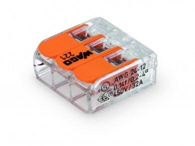 221-413 Terminalas PIN 3 32A; 450V 0.14-4mm2