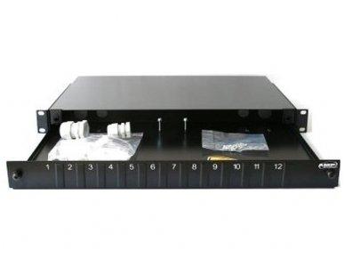 24xSC portų komutacinė panelė be perėjimų 300mm