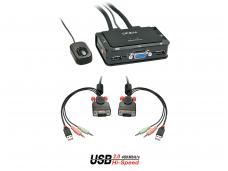 2p. KVM perjungėjas VGA, USB2.0, audio