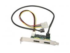 2x eSATAp nugarėlė 5+12V, SATA USB