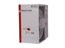 Lindy 305m Easy Pull Box. CAT6 S/FTP Stranded Bulk Network Cable. Grey
