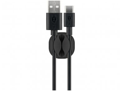 3 kabelių laikikliai iki 5.4mm juodi, 4vnt 3