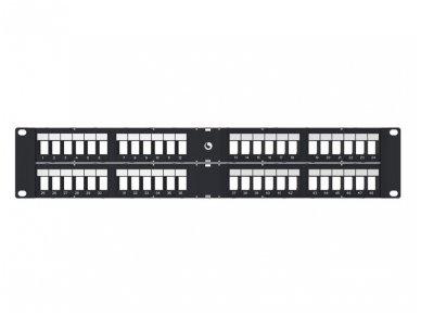 48 portų tuščia kampinė panelė, UTP 2U 3