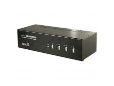 LINDY 4 Port Dual Head DVI-I KVM Switch Pro with TTU