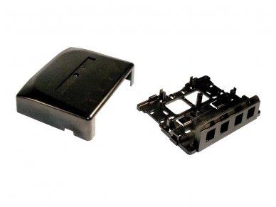 4-ių portų dėžutė, TWIST lizdams, juoda