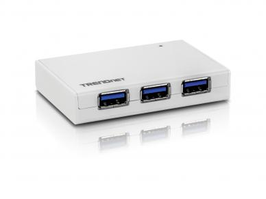 4 portų USB 3.0 šakotuvas su 5V 3A maitinimo šaltiniu