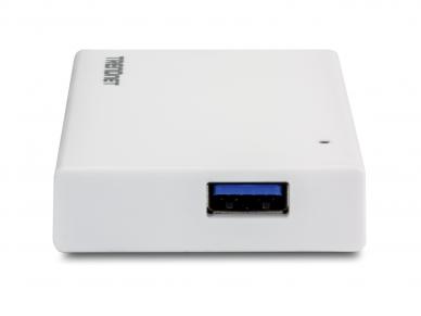 4 portų USB 3.0 šakotuvas su 5V 3A maitinimo šaltiniu 3