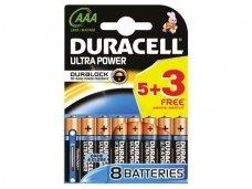 769-2820 Elementai AAA Duracell Ultra 5+3vnt.