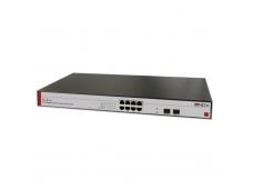 Lindy 8+2 Port Gigabit PoE Switch 8xRJ45 2xMini GBIC Open Slot