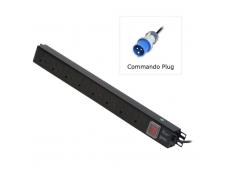 LINDY 8 Way UK Mains Sockets. Vertical PDU with Commando Plug