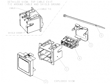 ACO+ instaliacinis komplektas 45x45, baltas 2