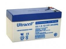Akumuliatorius 12V 1,3Ah, Ultracell (Švino rugšties)