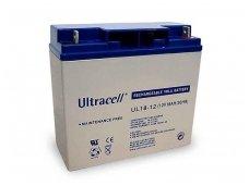 Akumuliatorius 12V 18Ah, Ultracell (Švino rugšties)