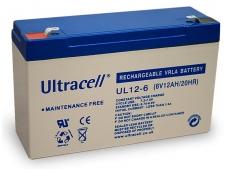 Akumuliatorius 6V 12Ah, Ultracell (Švino rugšties)
