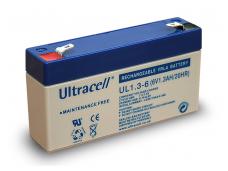 Akumuliatorius 6V 1,3Ah, Ultracell (Švino rugšties)