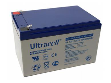 Akumuliatorius 12V 12Ah, Ultracell(Švino rugšties)