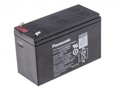 Akumuliatorius 12V 7.2Ah, Panasonic LC-R127R2PG 6-9m 2
