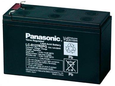 Akumuliatorius 12V 7.2Ah, Panasonic LC-R127R2PG 6-9m