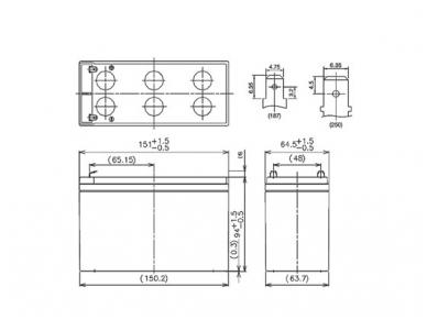 Akumuliatorius 12V 7.2Ah, Panasonic LC-R127R2PG1 6-9m 2