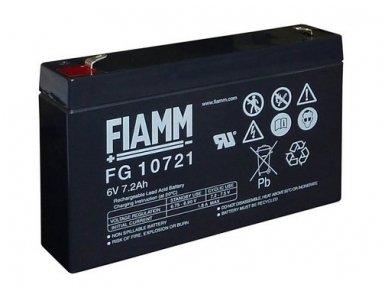 Akumuliatorius 6V 7.2Ah, Fiamm (Švino rugšties) FG10721