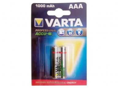 Akumuliatorius AAA 1,2V 1000mAh 2vnt Varta Profesional
