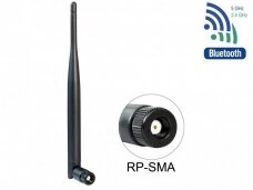 Antena WLAN 802.11 ac/a/b/g/n RP-SMA kištukas 5dBi