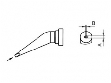 Antgalis LT-HX, 0.8x0.4mm,lenktas