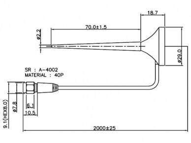 Antena GSM/ UMTS/ LTE SMA kištukas 2m 3dBi, išorinė, magn 3