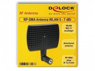 Antena WLAN 802.11 ac/a/b/g/n RP-SMA kištukas 5-7dBi 3