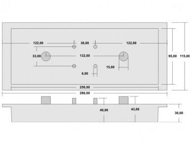 Antena WLAN MIMO 802.11 ac/a/hb/g/n 2xN lizdas 10.5-12dBi 4