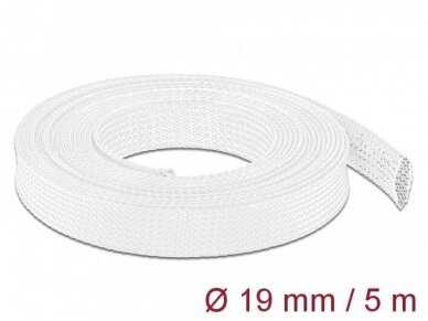 Apsauginis pintas šarvas 14-30mm, 5m,  baltas