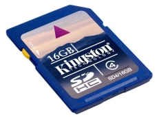 Atminties kortelė Kingston SDHC 16GB CL4