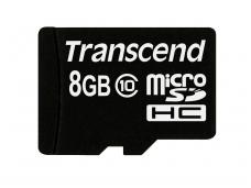 Atminties kortelė Transcend microSDHC 8GB CL10 + adapt.