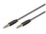 Audio kabelis 3.5mm - 3.5mm 2m juodas, mini