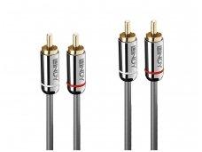 Audio kabelis 2xRCA - 2xRCA 10m, CROMO Line