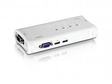 Automatinis USB/KVM perjungėjas 4>1 su kabeliais