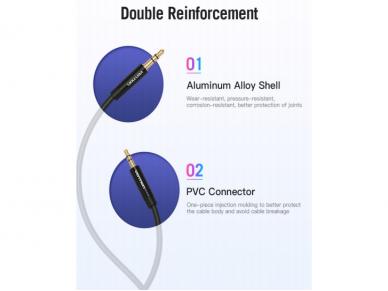 Audio kabelis 2.5mm M - 3.5mm M 2m 5