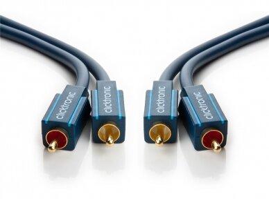 Audio kabelis 2xRCA - 2xRCA 1m Clicktronic 2