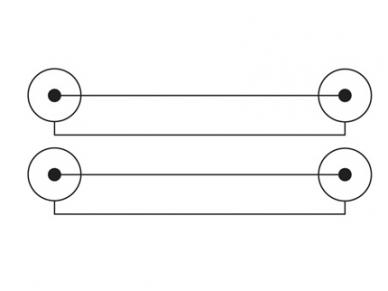 Audio kabelis 2xRCA - 2xRCA 2.5m 2