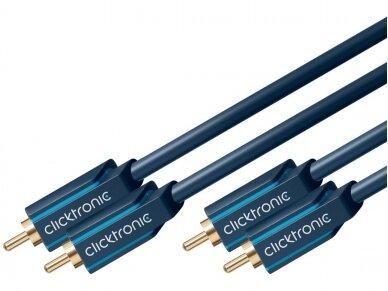 Audio kabelis 2xRCA - 2xRCA 2m Clicktronic 4