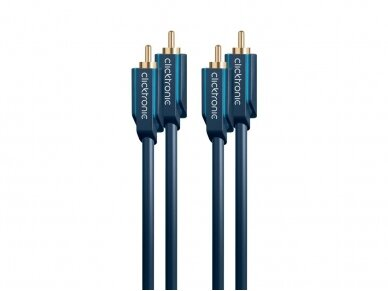 Audio kabelis 2xRCA - 2xRCA 2m Clicktronic 5