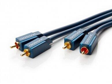 Audio kabelis 2xRCA - 2xRCA 2m Clicktronic