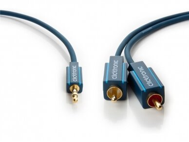 Audio kabelis 3.5mm - 2xRCA 1m Clicktronic 2